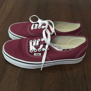 Vans Authentic in Rumba Red /Off White | NWOT